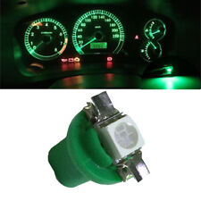 10x T5 B8.5D 5050 1SMD Cars LED Dashboard Dash Gauge Instrument Light Bulb Green