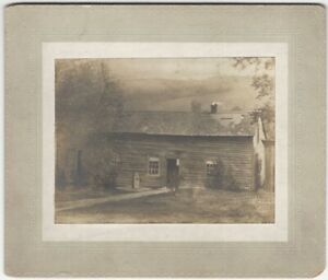 Chemung New York Rural Wood 1850s House / Cabin Architecture Cabinet Card