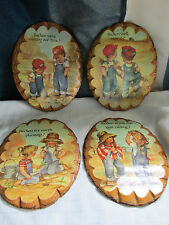"Lot Of Four Vintage ""Coby"" Decoupage Plaques"