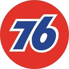 """GAS BENZINA 76 Classic Tondo Motorsport esterno in Vinile Adesivo Decalcomania 76mm - 3"""" x2"""