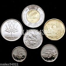 🇨🇦​CANADA 2017 COMPLETE COIN SET 5 CENTS TO 2 DOLLARS UNCIRCULATED (6 COINS)