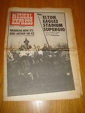 NME 1975 APRIL 5 RICK WAKEMAN ELTON JOHN EAGLES STEVIE WONDER KINKS STATUS QUO