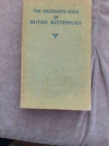 1947 Observer's Book Of Butterflies
