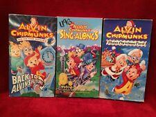 Disney Alvin and the Chipmunks~ VHS ~ Tested ~ Set of 3 ~ Christmas Carol