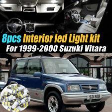 8Pc Super White Car Interior LED Light Bulb Kit for 1999-2000 Suzuki Vitara
