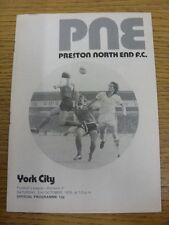 02/10/1976 Preston North End V York City. Merci de prendre le temps de consulter O