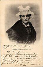 CPA Angers-Femme des Ponts de Cé (189752)