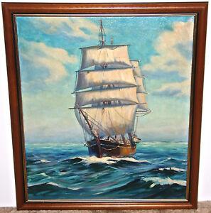 Otis Tripp Nautical Scene  Massachusetts Artist