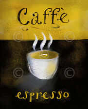 CAFE ART PRINT Caffé Espresso - Anthony Morrow Coffee Cup Cappuccino Poster 8x10