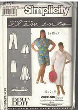 9122 Vintage Simplicity Sewing Pattern Misses Pants Shorts Skirt Sash Plus Size