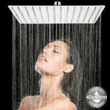 Soffione Doccia Bagno Cascata Quadrato 40x40cm Acciaio 324 Getti Effetto Pioggia