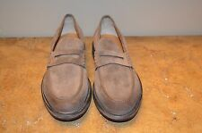Santoni Men's Taupe Suede Loafers Size US 11