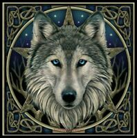 Wild Wolf - DIY Chart Counted Cross Stitch Patterns Needlework DMC Color 14 ct