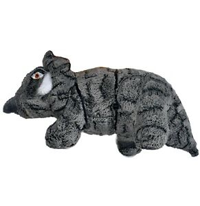 MIGHTY- Dinosaur Triceratops - Squeaker-Multiple Layers. Durable, Strong, floats