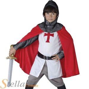 garçons mediéval Anglais croisé Costume Déguisement chevalier enfant St George