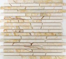 Marmormosaik Verbund golden cream poliert mit Struktur Art:40B-2807 | 10 Matten