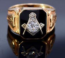 #156 Past Master Masonic 14k Gold 0.5 Carat VS1 F Diamond Ring Size 10 Not Scrap