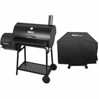 "Royal Gourmet 30"" BBQ Charcoal Grill Offset Smoker CC1830FC Work Space"