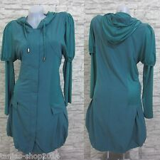 GLAMZ 2Tlg. Set Tunika Kleid Longshirt WESTE LAGENLOOK Grün Gr. 42 (R4035)