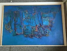Peace Painting # 1, Mixed Media Collage, Framed-Anne Rechter