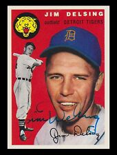 1954 Topps Archives Signed Autographed Jim Delsing Detroit Tigers 20680