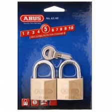 ABUS Padlocks - Perfect Shed Padlock -KEYED ALIKE TWIN PACK -Free Post