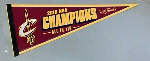 2016 Cleveland Cavaliers NBA Finals Champions Team Pennant Room Decor Flag NEW
