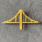 Yellow Suspension Bridge for Wooden Track Thomas Brio Compatible 15 X 7.5