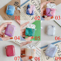 For Apple AirPods Pro 2 & 1 Charging Case Marble Silicone Protective TPU Cover