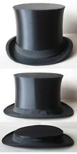 ANTIQUE OLD GERMAN MARKED SILK COLAPSIBLE OPERA TOP HAT GIBUS / SIZE 56