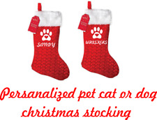 PERSONALIZED PET CAT OR DOG CHRISTMAS STOCKING