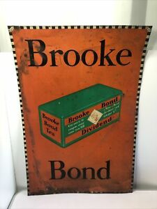 Original Brooke Bond Advertising Enamel Tea Sign