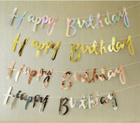 4 Color Happy Birthday Banner Bunting Hanging Garland Party Decor AU