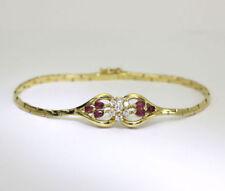 Pulseras de joyería con gemas en Oro amarillo de 18 quilates