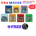 GBA GAMEBOY POKEMON CRYSTAL RED YELLOW BLUE SILVER GREEN GOLD GB GBC GAME CARD