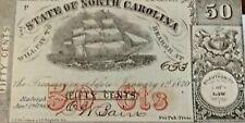 Raleigh, North Carolina Jan. 1st,1864 50¢ Cent Obsolete Note