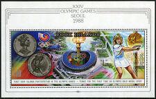 Cook Islands 999 S/S, MNH. Summer Olympics, Seoul. Steffi Craf, tennis, 1988