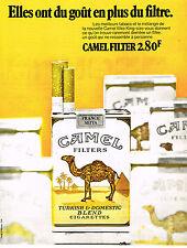 PUBLICITE ADVERTISING 045  1971  CAMEL  cigarettes