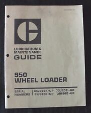 GENUINE CATERPILLAR 950 WHEEL LOADER TRACTOR LUBRICATION & MAINTENANCE MANUAL