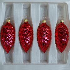 16er SET Tannenzapfen Glaszapfen Glas Christbaum Weihnachtsbaum silber gold NEU