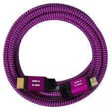 2x 10m Premium Nylon High Speed HDMI 2.0 Kabel 3D/4K/UHD/FullHD/2160p/1080p pink