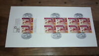 1996 AFL CENTENARY STAMP BOOKLET OF 10 STAMP FIRST DAY COVER, BRISBANE LIONS FC