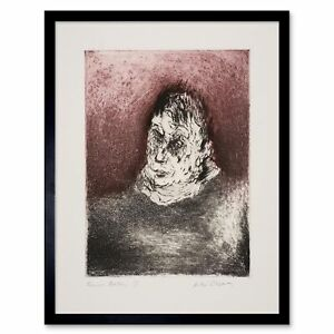 Painting Cosman Portrait Artist Francis Bacon 12X16 Inch Framed Art Print