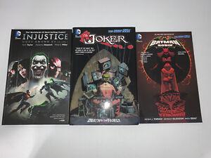 DC graphic Novel INJUSTICE GODS AMUNG US, Joker Death In The Fam, Batman Robin