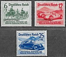 Germany Third Reich Mi# 695-697 MH Nurburgring Races Overprints 1939 *