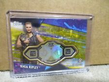 2020 TOPPS WWE WOMEN'S DIVISION RHEA RIPLEY GOLD CHAMPIONSHIP PLATE PATCH 4/10