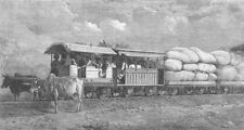 INDIA. Indian Tramway, antique print, 1863