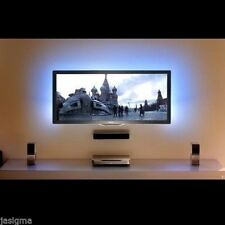 """8ft Blue LED back strip light for 24"""" 32"""" 40"""" TV ambient with remote & AC power"""
