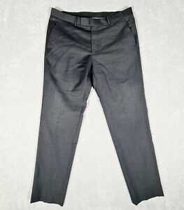 TRENT NATHAN Mens Black White Micro Dot Pure Wool Dress Pants Size 92R / 36in
