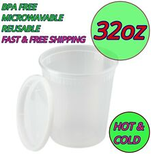 32oz Food Storage Meal Prep Deli Container Microwavable Soup Lunch Salad Soup